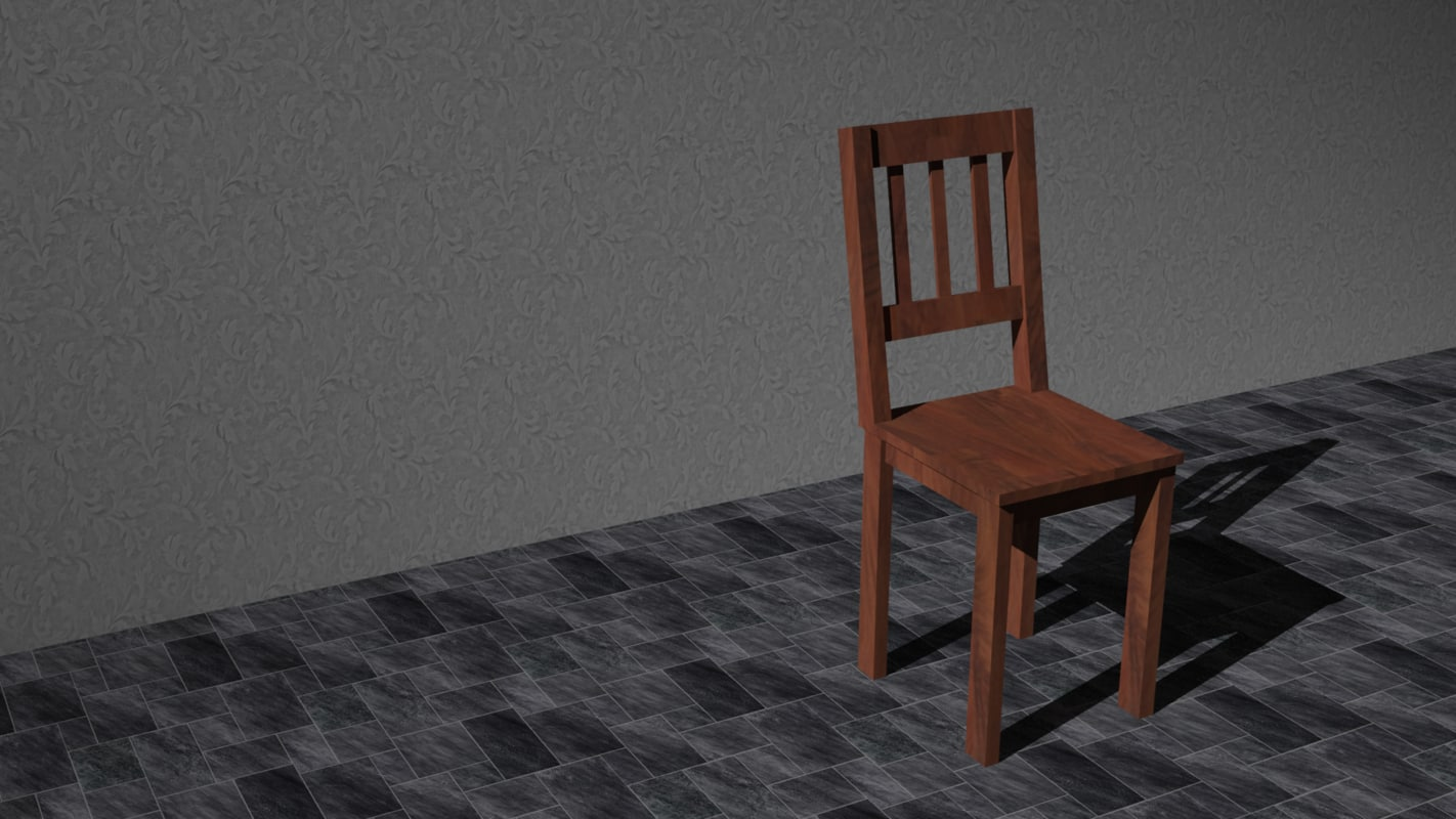 dining room chair obj