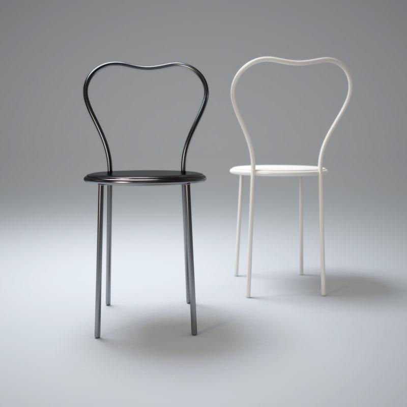 3d max heart chair