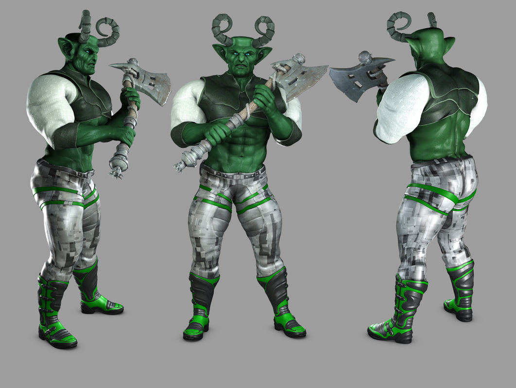 character modeled 3d model