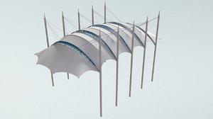 3ds max roof shore membrane
