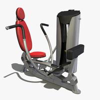 3d chest press model