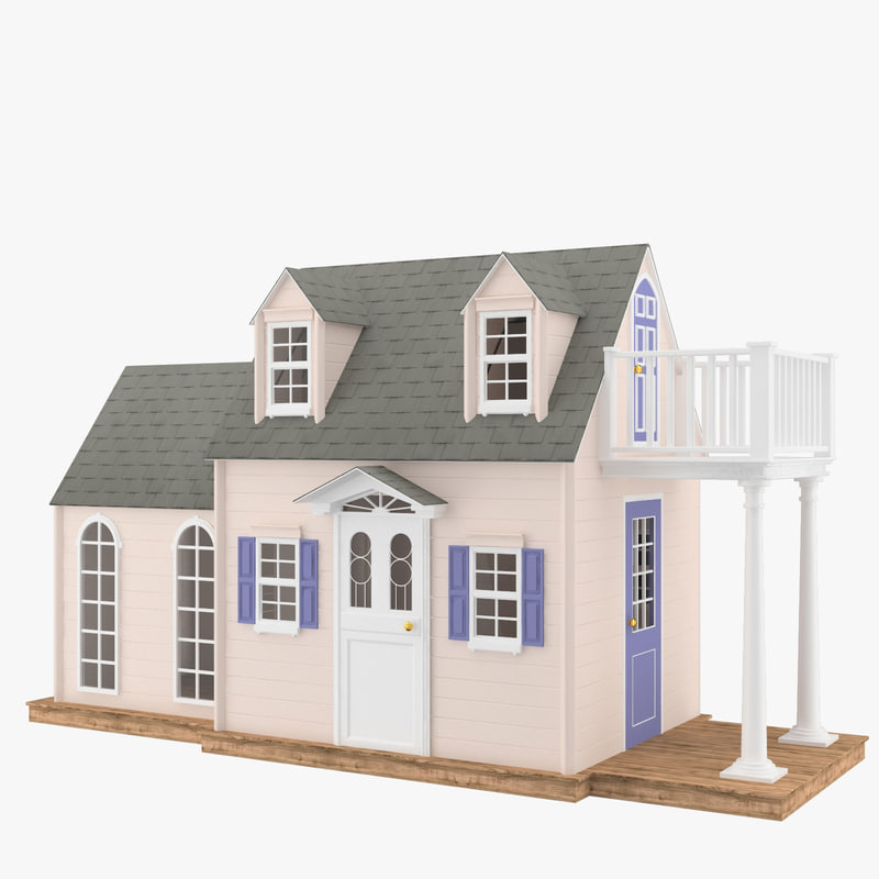 3d usa house wood