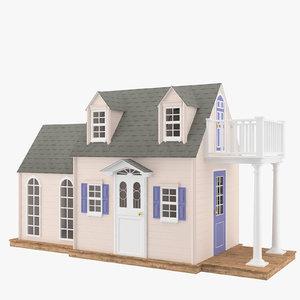 3d usa house wood