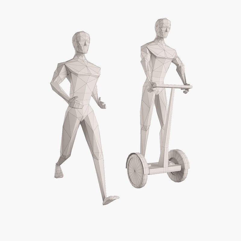 3d man figure model