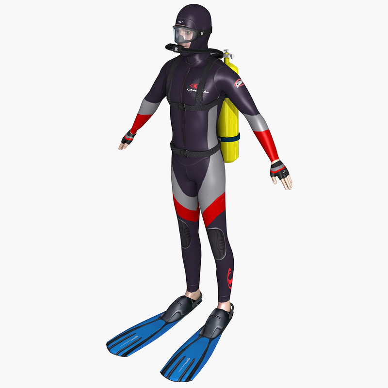 3d model scuba diver
