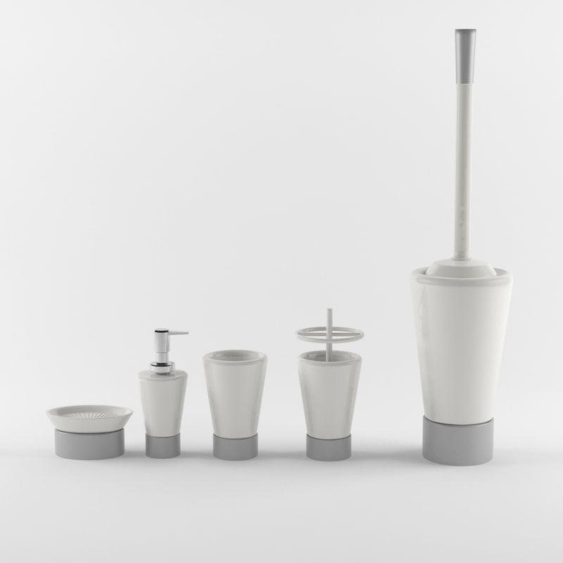 max bathroom accessories set 06