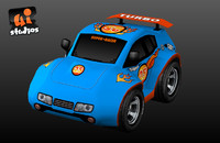 fbx toon car race