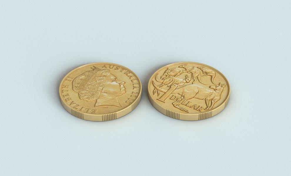 australian dollar coin 3d model