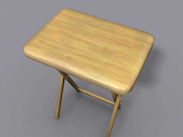 3d table folds