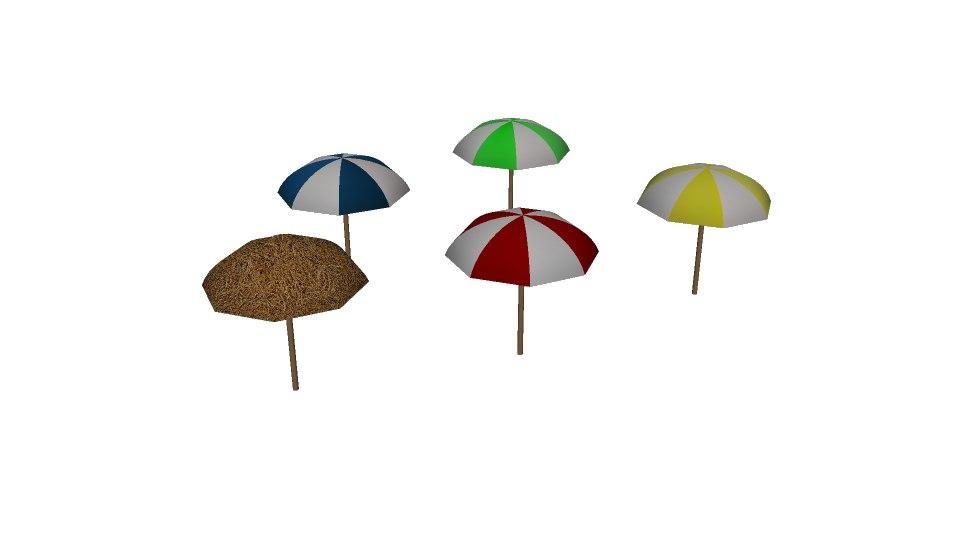 beach umbrella fbx