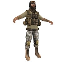 mercenary soldier 3d max