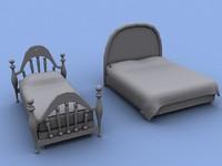 2 beds 3d max