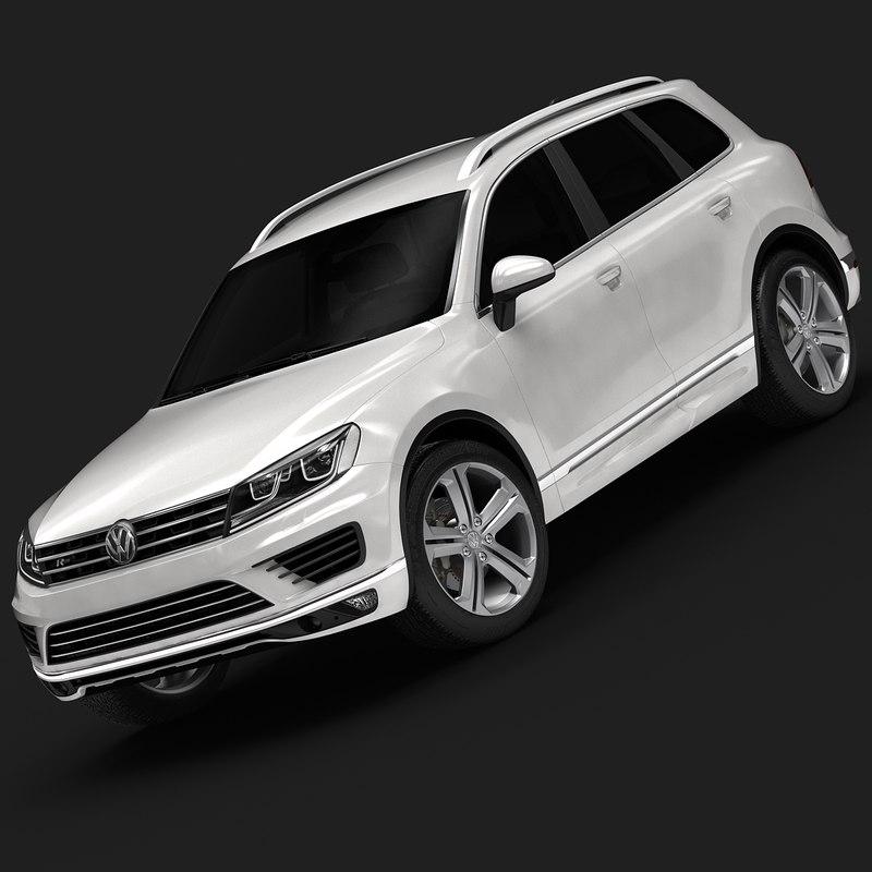 2015 touareg volkswagen interior 3d max