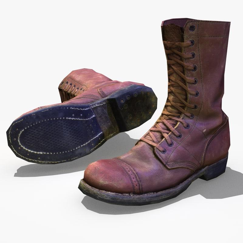 3d ww2 paratrooper boot