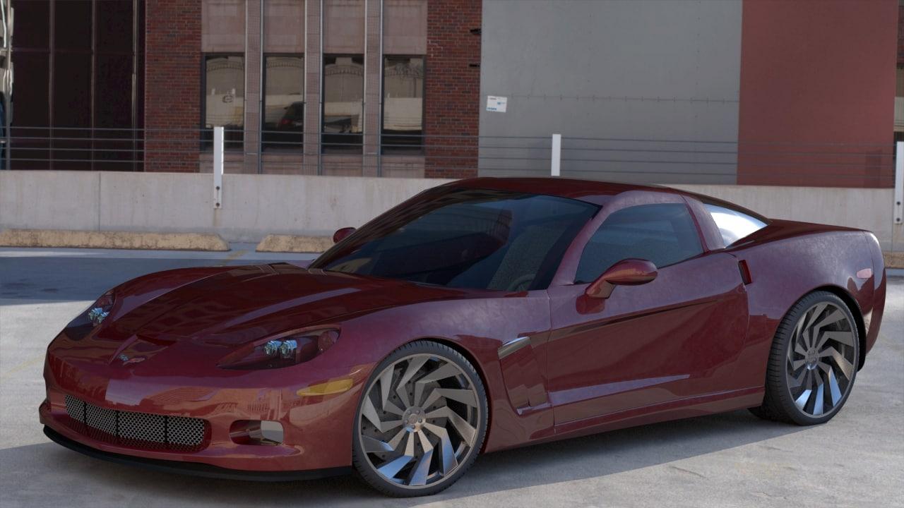 chevrolet corvette car 3d x