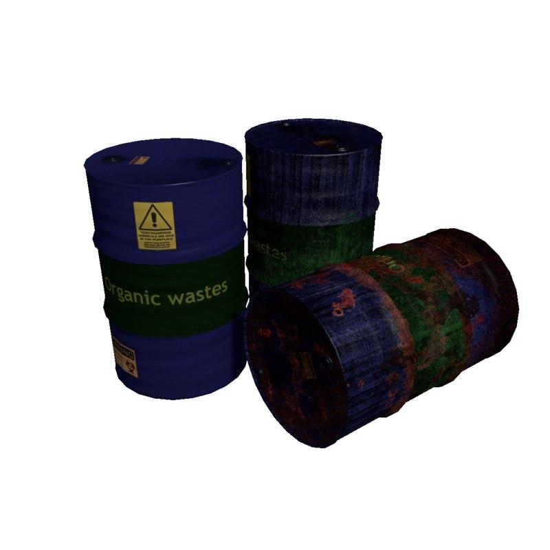 barrels rusty 3d 3ds