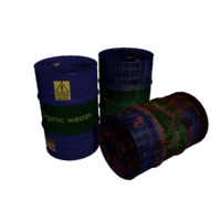 barrels rusty 3d 3ds