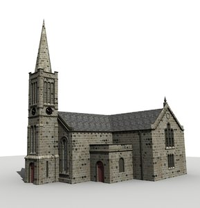 3d bourock church glasgow scotland model