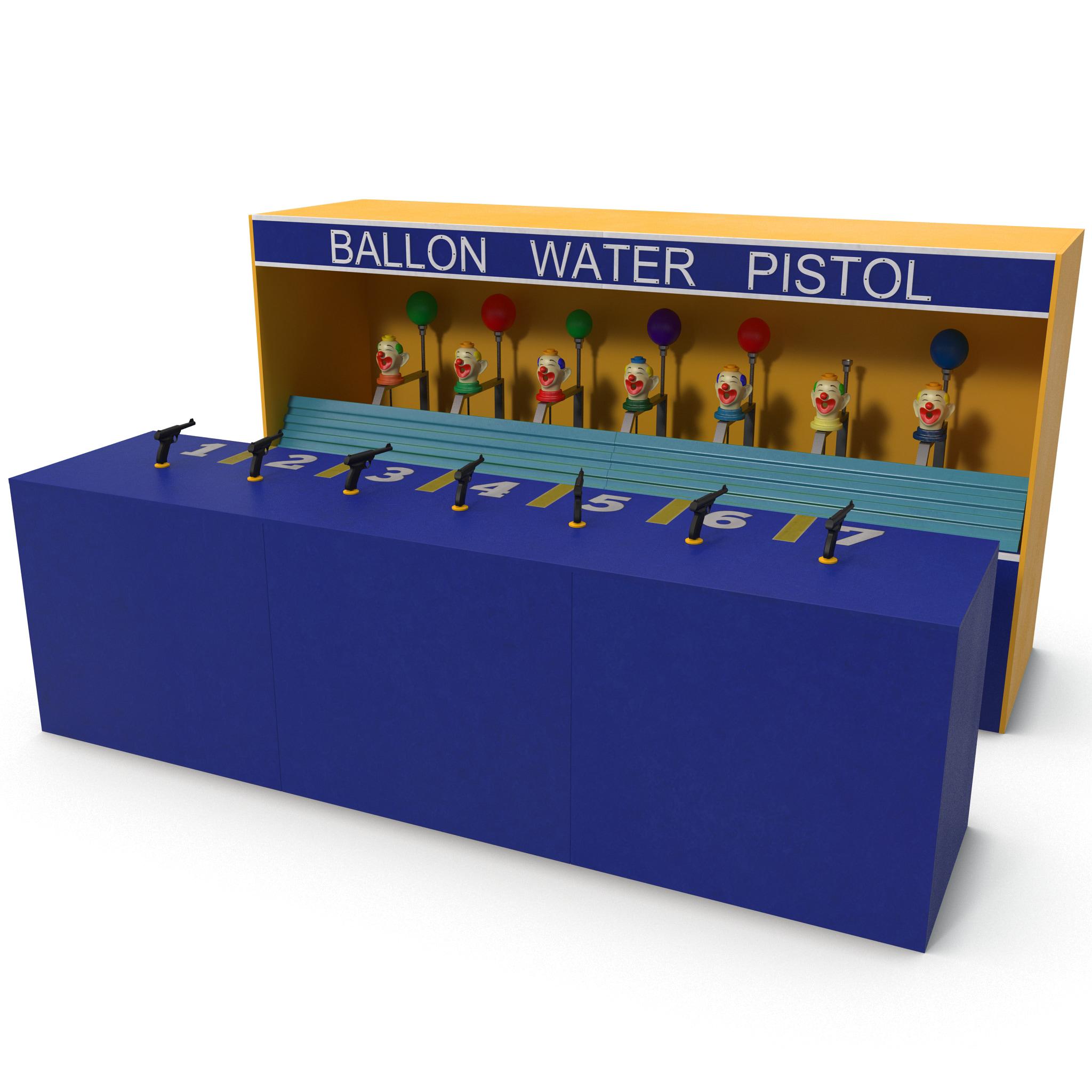 3ds max clown water gun balloon