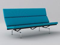 3dsmax eames compact sofa