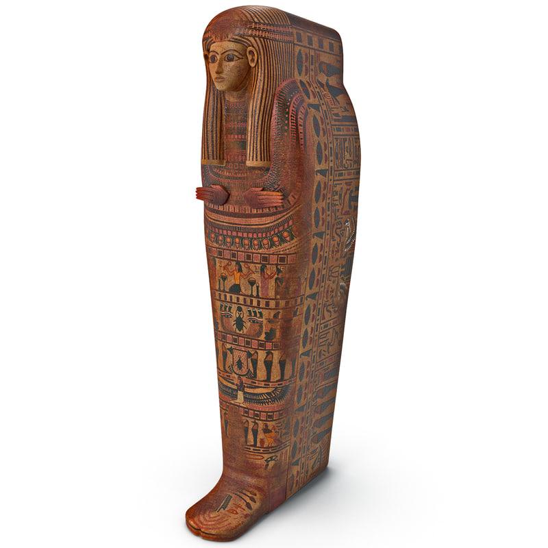 egyptian sarcophagus 3 3d model
