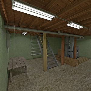 c4d house basement