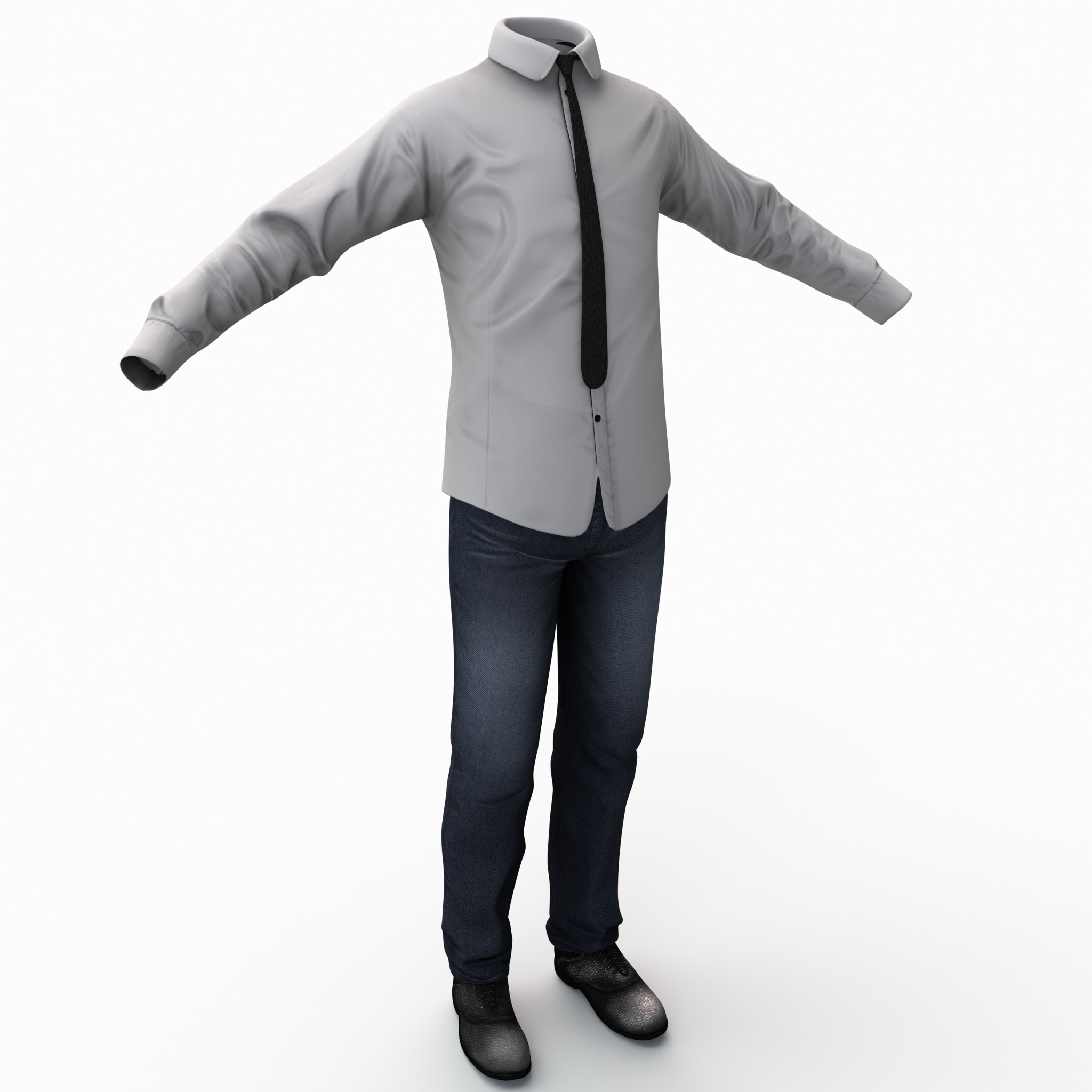 3d male casual clothes 3