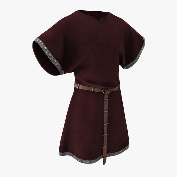 medieval clothes 6 3d model