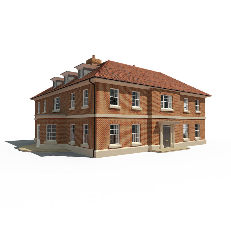 3d english country house model