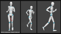 alan run 1 motion capture animation