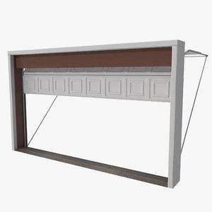 3d model of sectional garage door rigged