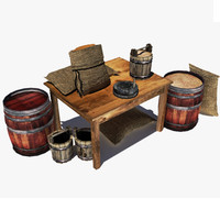 3d model assets table old