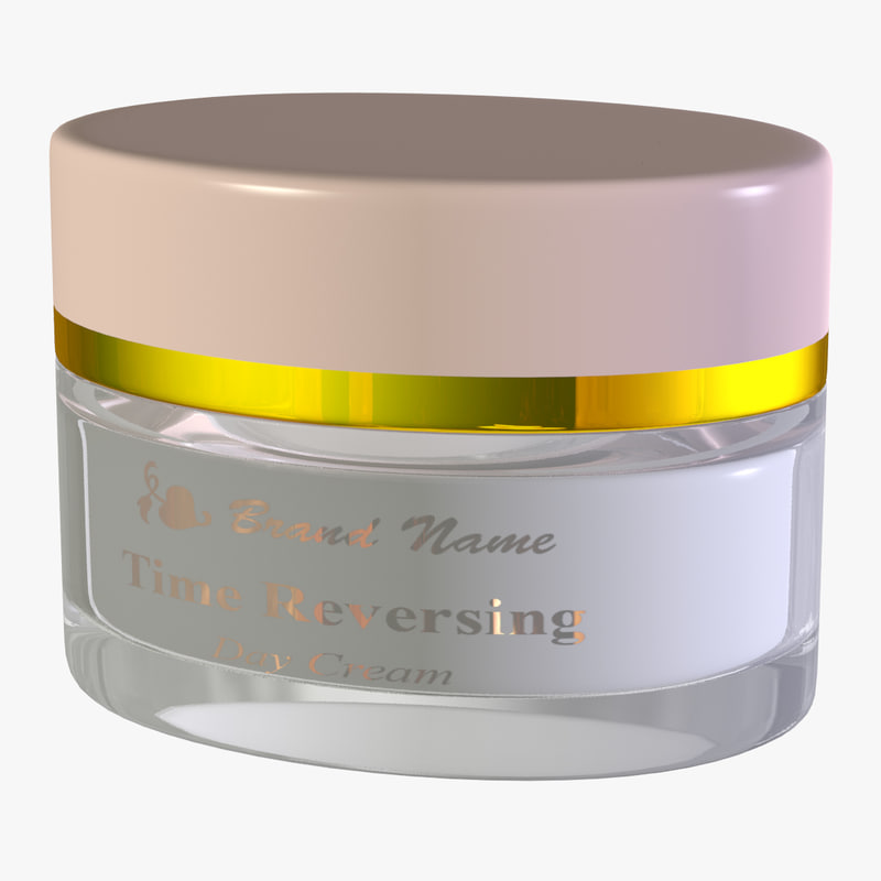 3d model visualizing generic golden glass jar