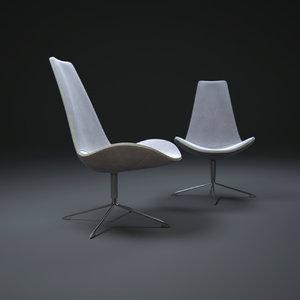 spoon-high-chair 3d model