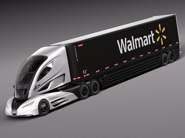 3d 2015 walmart truck model