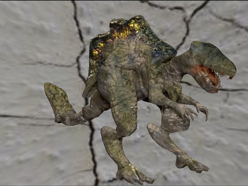 3d dino monster model