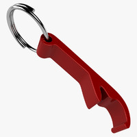 bottle opener keychain 3d model