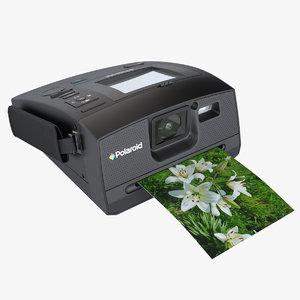 3d photoreal camera zink polaroid