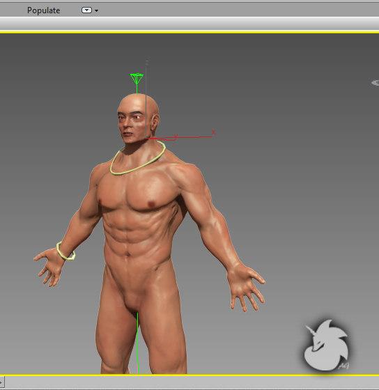 warrior games body 3d max