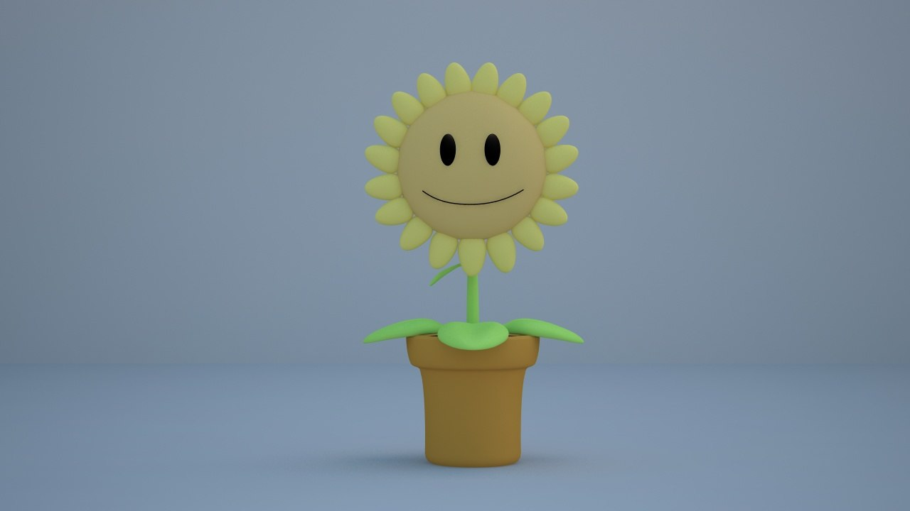 3d positive flower