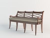 3d theodore alexander bench model