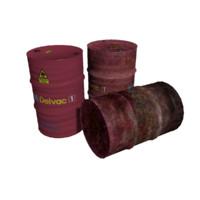 barrels rusty 3d model