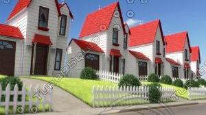 despicable house street obj