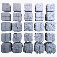 sci-fi cube mht bundle-01 3d model