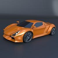 sports concept 3d model