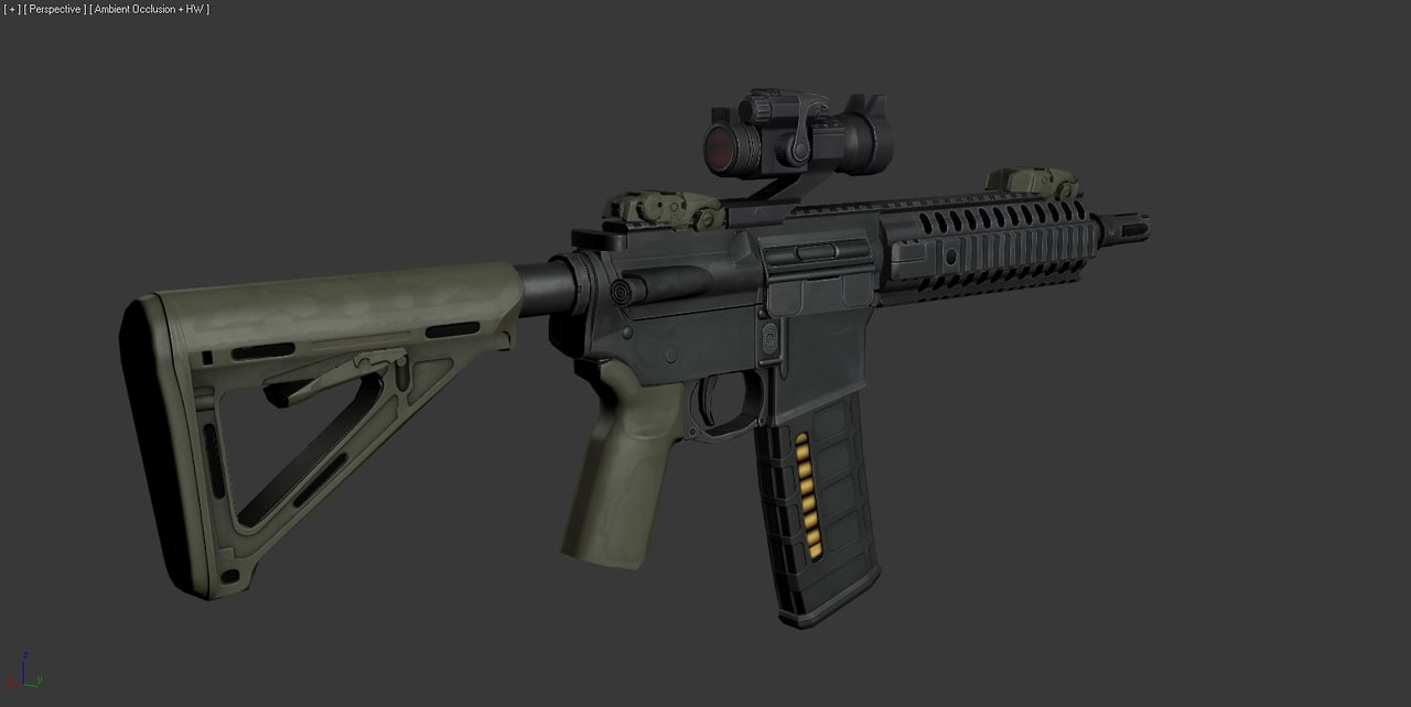 m4 carbine custom 3d max
