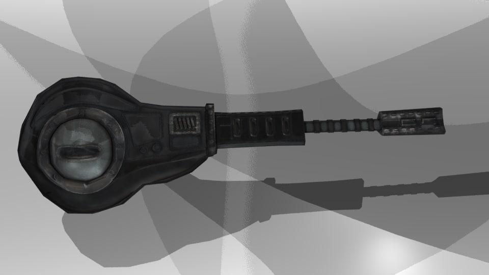 laser canon 3d obj