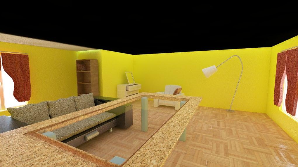 interior living room 3d model