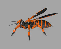 robot wasp 3d model