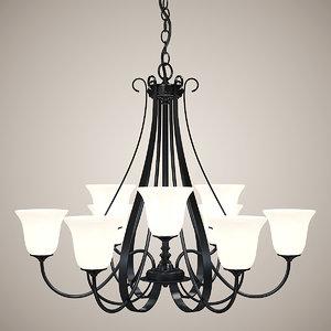 3d model chandelier lights